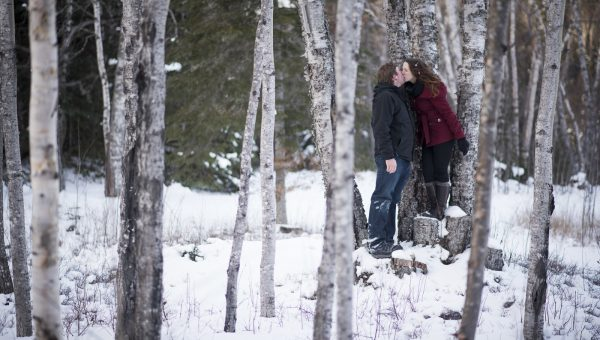 Andrea & Ed Winter Engagement Terrace Bay by Dan Garrity Media Thunder Bay Photographer